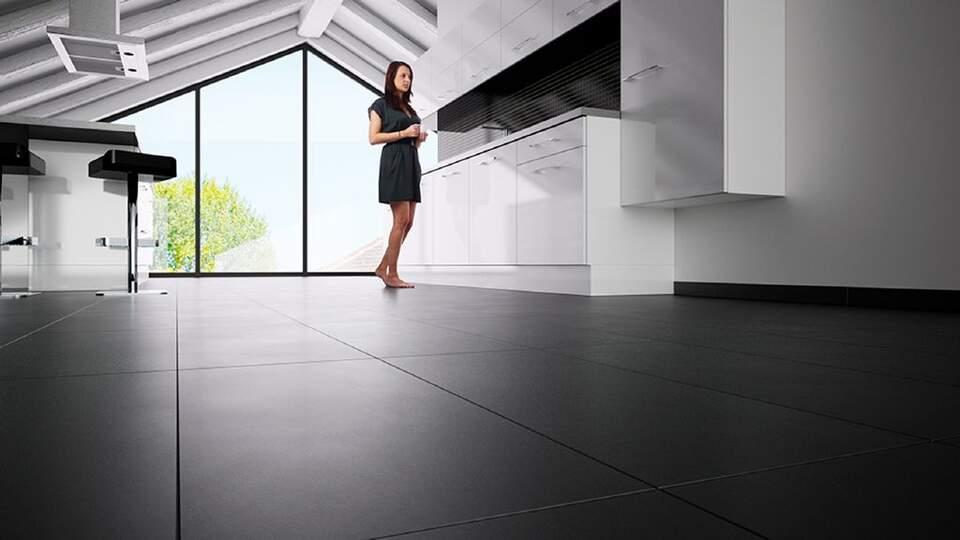 O Schlüter®-DITRA-HEAT-E proporciona cerâmica quente, mesmo nas bases mais difíceis